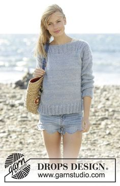 Bente jumper in stockinette st and rib by DROPS Design Free Knitting Pattern