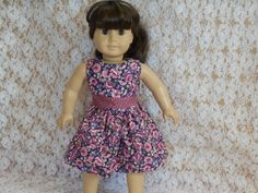 American Girl Doll Clothes Purple Flowers by something2do on Etsy