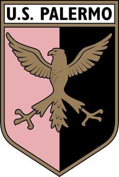 US Palermo of Italy crest. World Football, Football Soccer, Badges, Soccer Logo, Ferrari Logo, Crests, Logos, Palermo, Creative Art