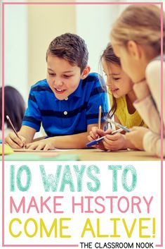 Try one of these ways to make history come alive in your upper elementary classroom Social Studies Curriculum, 5th Grade Social Studies, Social Studies Classroom, Social Studies Activities, History Activities, Classroom Community, Teaching Social Studies, Teaching History, 5th Grade Teachers