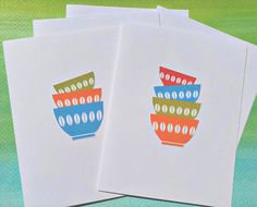 Items similar to Baker's Notes Everyday Notecards, Illustrated Baking Stationery Card, Kitchen Stationery, rnc on Etsy Thank You Greeting Cards, Thank You Note Cards, Bridal Shower Cards, Baby Shower Cards, Friendship Note, Diy Note Cards, Baby Shower Thank You, Mixing Bowls, Stationery Set