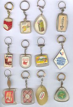 Les porte clefs. Une sorte de folie collective à l'époque.                                                                                                                                                      Plus