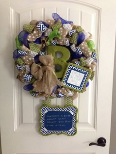 Hey, I found this really awesome Etsy listing at https://www.etsy.com/listing/171862146/hospital-door-birth-announcement-wreath