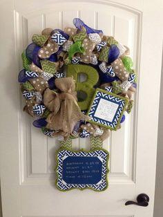 Hospital Door Birth Announcement Wreath by LisaGreenDesign on Etsy, $200.00
