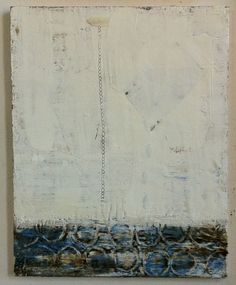 """""""Ocean of Tears"""" Encaustic and Collage on wood,  Amy Weil"""