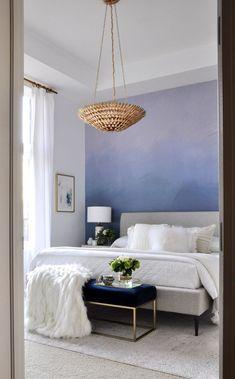Colorado Loft Bedroom Reveal!  (that wallpaper, though...)