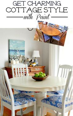 Paint a Cottage Style Table before and afters with tutorial
