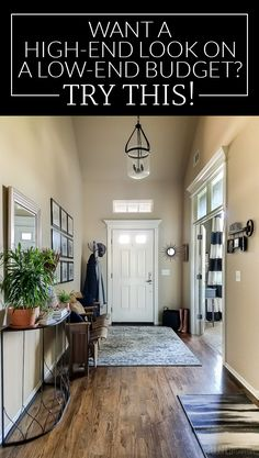 Do you wish your budget matched the price tags at high-end stores? I found out how to get the look I wanted in my entryway without giving up dinners out. Wait until you see this before and after! / Post sponsored by - My Interior Design Ideas Interior Exterior, Home Interior, Interior Design, Interior Plants, Style At Home, Apartment Entryway, Entryway Rug, Open Entryway, Organized Entryway