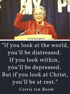 Corrie Ten Boom, Jesus Tattoo, Great Quotes, Quotes To Live By, Inspirational Quotes, Meaningful Quotes, Bible Prayers, Bible Scriptures, Faith Quotes
