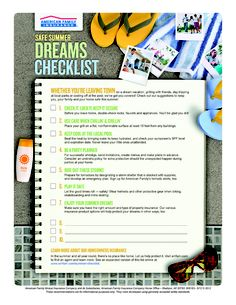 School is out so summer fun is in?  Keep them safe as they follow their dreams.  http://www.amfam.com/summer-checklist/?sourceid=PIN_HM_CHECKL