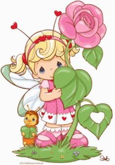 flower vine by precious moments Precious Moments Quotes, Precious Moments Coloring Pages, Precious Moments Figurines, Cute Images, Cute Pictures, Image Deco, Baby Coloring Pages, Flowering Vines, My Precious