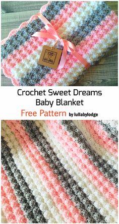 Crochet Baby Blanket Free Pattern, Crochet Blanket Patterns, Beginner Crochet Blankets, Easy Crochet Stitches, Crochet Stitches For Beginners, Crochet Amigurumi, Diy Crochet, Crochet Ideas, Crochet Crafts