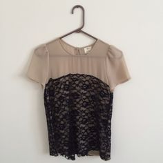 Sweet Lace Pins and Needles Blouse from Urban Adorable lace blouse from Urban Outfitters. Great for work or date night. Looks good with a high waisted skirt or a pair of boyfriend jeans and pumps. Very chic. Urban Outfitters Tops Blouses