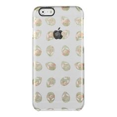 Cute whimsical vintage floral aliens pattern uncommon clearly™ deflector iPhone 6 case