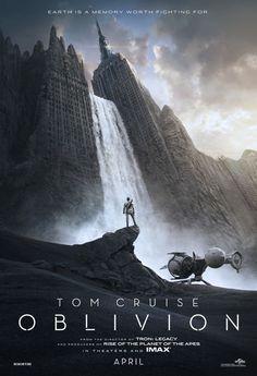 CIA☆こちら映画中央情報局です: Oblivion : トム・クルーズ主演のSFアクション映画の話題作「オブリビオン」が、マンハッタンが化石化した未来の地球の光景をポスターで初公開!!
