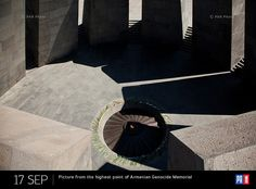 Picture from the highest point of Armenian Genocide Memorial. Yerevan, Armenia