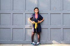 Neige fall 2013 new kidswear with a stylish bib dress for older girls.