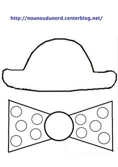 Gabarit chapeau et noeud de dessiné par nounoudunord