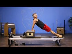 Moving Bridge on the Pilates Reformer - YouTube