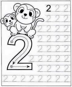 New System-Suitable Numbers Line Study - Preschool Children Akctivitiys Preschool Writing, Numbers Preschool, Preschool Learning Activities, Kids Learning, Printable Preschool Worksheets, Kindergarten Math Worksheets, Kids Worksheets, Math For Kids, Kids Education