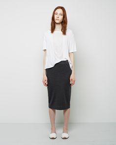 Raquel Allegra / Shredded Boxy Tee Raquel Allegra / Basic Pencil Skirt #ss14