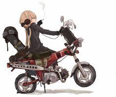 女の子がバイクにまたがってる画像ください!!! : ダメージ0