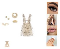 """""""Fancy New Years party"""" by tyrajackson ❤ liked on Polyvore featuring Giuseppe Zanotti, Kate Spade, R.J. Graziano and Carolee"""