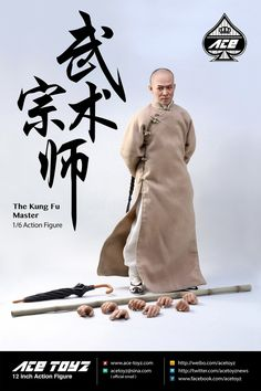 Ace Toyz AT-006 Kung Fu Master 1/6 Jet Li Wong Fei-hung Figure Set