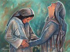 Resultado de imagem para imagens do encontro de Nossa Senhora com Santa Isabel
