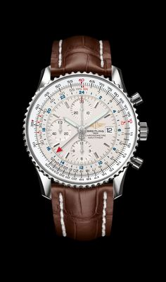 Navitimer World - Breitling - Instruments for Professionals I have this with a bracelet love it!