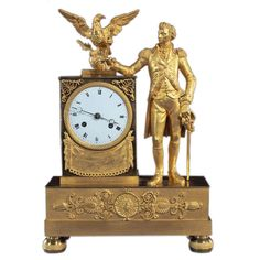 clock with full length figure of george washington franceca 1815 by jean baptiste