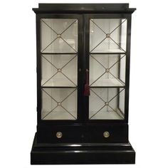 Shop vitrines and other antique and modern storage pieces from the world's best furniture dealers. 1950s Furniture, Furniture Makeover, Antique Furniture, Cool Furniture, Painted Furniture, Black Display Cabinet, Hollywood Regency Decor, Display Cases, French Home Decor