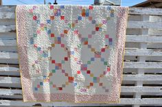 30's Reproduction Feedsack Irish Chain Quilt