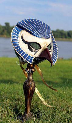 Egyptian+God+Horus+Full+Faced+Leather+Mask+by+MaskEra+on+Etsy,+$275.00