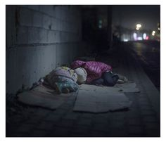 Powerful Images Showing Where Young Syrian Refugees Sleep - BuzzFeed News. This girl is seven. Her parents have been killed. She sleeps on the streets. She is scared of 'bad boys'. No little girl's childhood should be like this.