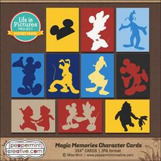 Free Magic Memories Character Cards from Peppermintcreative                                                                                                                                                      More