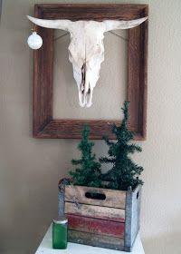Western Christmas decor #bull #cow #ornament