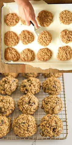 These easy Zucchini Oatmeal Cookies are surprisingly light and fluffy cookies made from oats and shredded zucchini. These easy Zucchini Oatmeal Cookies are surprisingly light and fluffy cookies made from oats and shredded zucchini. Zucchini Oatmeal Cookies, Zucchini Cookie Recipes, Zucchini Desserts, Zucchini Bread Recipes, Baking Recipes, Healthy Zucchini Cookies, Easy Oatmeal Cookies, Quaker Oatmeal Cookies, Zuchinni Cookies