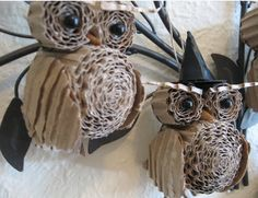 Handcrafted owls