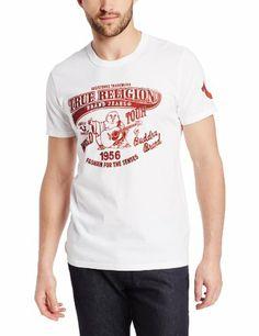 True Religion CREW SHIRT WORLDWIDE - Camiseta print - white HD8FA