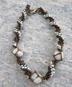 Art Bead Spiral Bracelet | AllFreeJewelryMaking.com