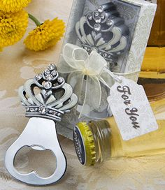Sparkling Crown Design Bottle Opener Favors from Wedding Favors Unlimited