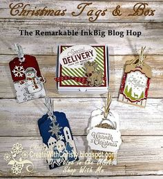 Complete Instructions included - Stampin' Up! Seasonal Chums, Night in Bethlehem, Snowflake Sentiments, & Merry Little Labels Bundles- handmade Christmas tags - Create With Christy: The Remarkable InkBig Blog Hop - Christy Fulk, Independent SU! Demo