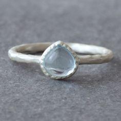 Drop Topaz Ring