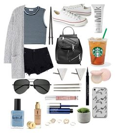 """Mhm"" by fashionisminej ❤ liked on Polyvore featuring Victoria's Secret, A.L.C., MANGO, Converse, Marc Jacobs, Rachel Jackson, Yves Saint Laurent, MILK MAKEUP, Clinique and GUESS"