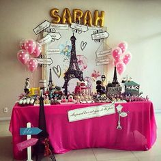 Festa Paris feita com nosso carinho em cada detalhe.. ♥ #diadefesta #decoracao #imaginesoatelier #espacoscriativos #arte #producao #atelier #festaparis #scrap