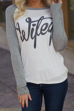 Wifey Tee (Ivory / Heather Grey) - Piace Boutique
