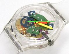 Jelly swatch watch, I had one in the 80s and LOVed that watch. Fun to look at and ticked so loudly