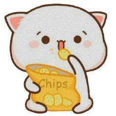 Cute Cartoon Images, Cute Cartoon Wallpapers, Mochi, Kawaii App, Cute Anime Cat, Jungkook Funny, Chibi Cat, Cute Kawaii Animals, Minimalist Wallpaper