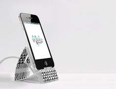 DIY: 5 minute paper iphone stand plus free template